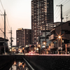 長瀬川の夕暮
