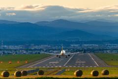 Landing at Asahikawa Airport