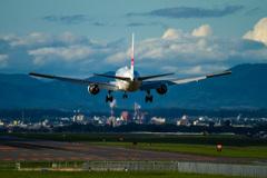 JAL555 Arrive at Asahikawa Airport