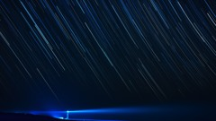角島灯台の夜