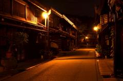 古い町並み、夜の姿 01