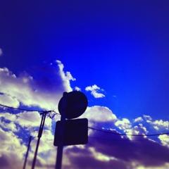 寒い日の空