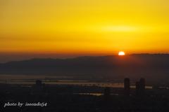 ハルカスの夕日