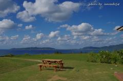 南ぬ島の青空