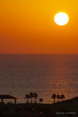 美ら海の夕日