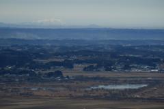 仙台平野から100名山・岩手山を望む
