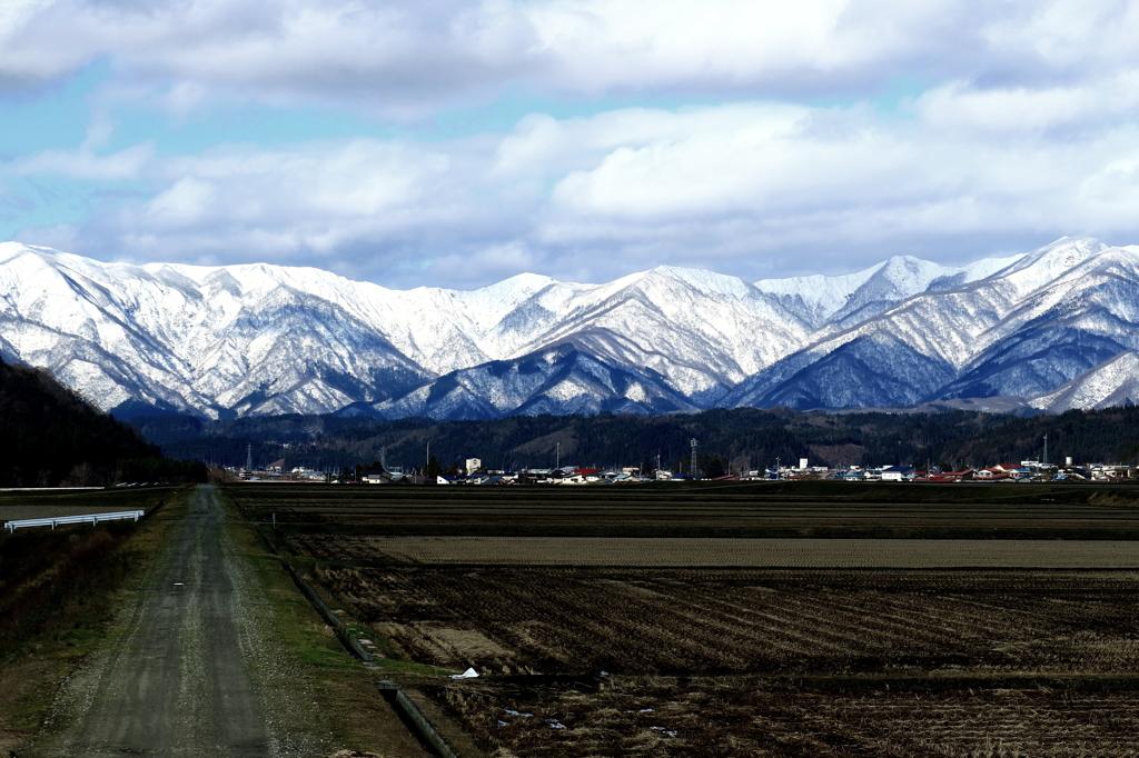 初冬の神室連峰