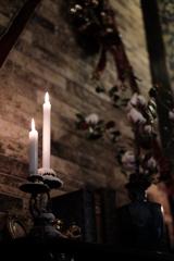 クリスマスの燭台