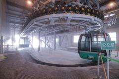 標高1600mのロープウェー山頂駅