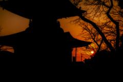 密蔵院夕景