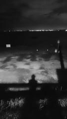 夜の海 葉山 長者ヶ崎駐車場にて