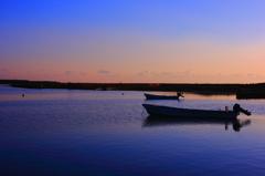 入り江の朝