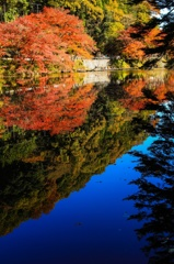晩秋の鎌北湖