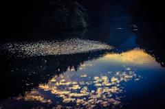 夕暮れ湖畔
