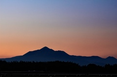 霧島連峰の夕景