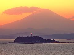 雲中の富士