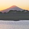 夕陽の富士