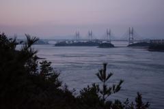 橋のある海景