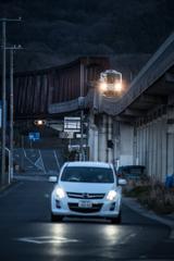 夕刻の鉄道