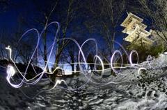 雪上のダンス