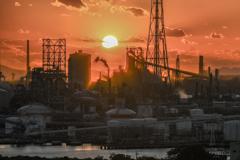 沈む夕日のファクトリー