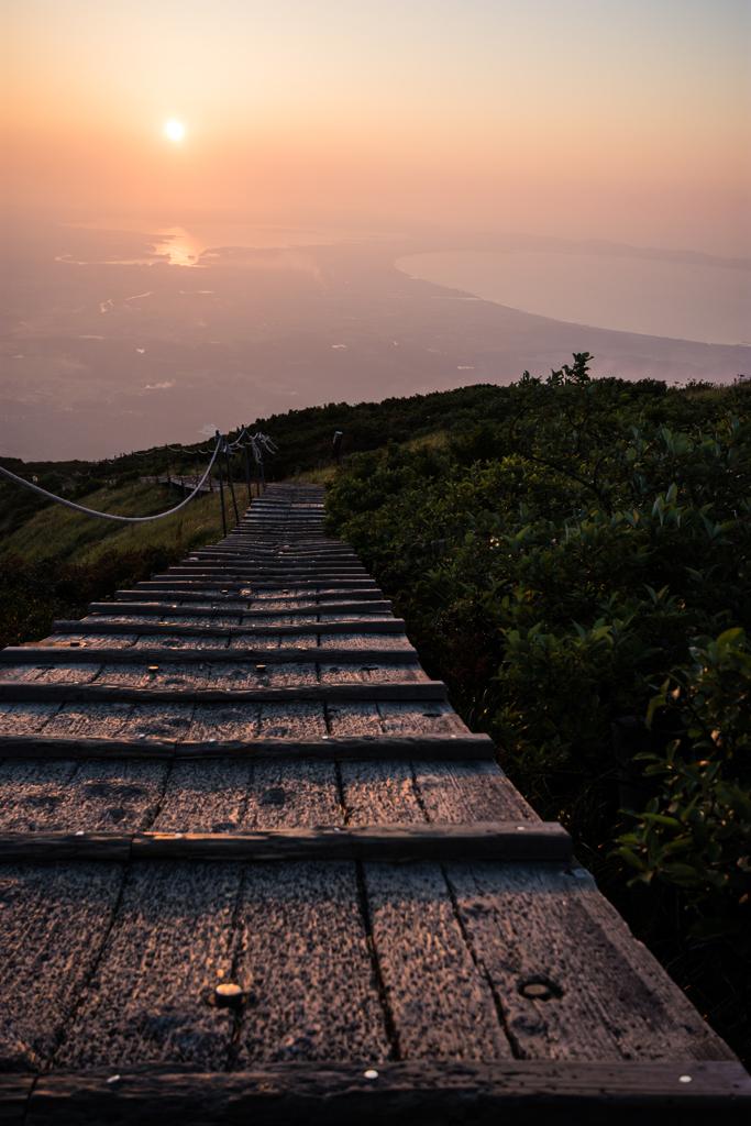 大山(だいせん)からの夕日