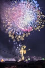 今日の岡山ー花火大会