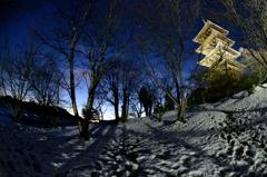 雪夜の輝き
