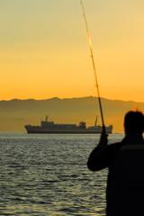 旅人と釣人