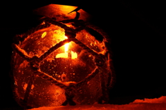 ガラス浮き球の灯り
