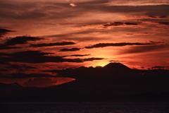 海越しの富士 三題 エピローグ 過ぎ去りし台風・・