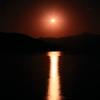 真夜中の奥日光  三題    上弦の月