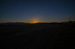中富良野で日の入り