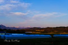 夕刻の日高山地