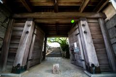 唐津城、入り口の門