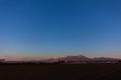 中富良野町から十勝連峰の夕焼け