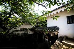唐津城、城門を内側から