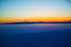 凍てつく夕焼け