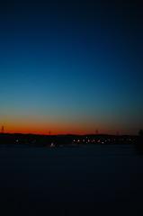 氷点下17度の夕景