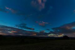 満天の星の丘、夕刻