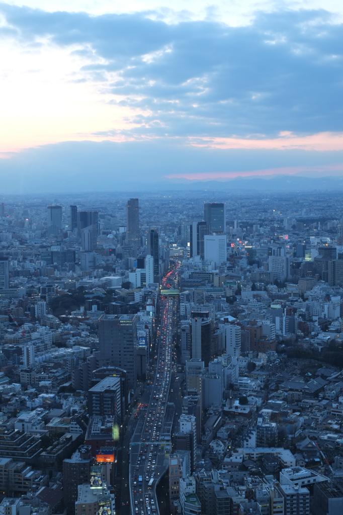 六本木通りを通って渋谷へ向かう