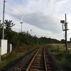 2018/09/13_大湊線の線路と風車