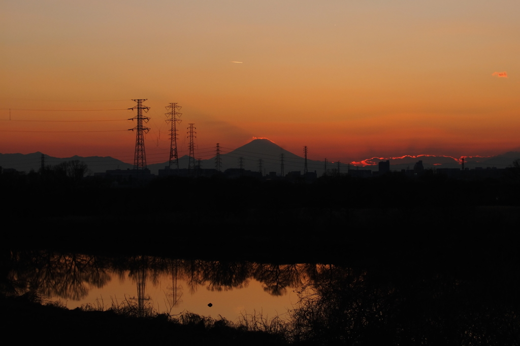 2015/01/04_夕暮れの富士山