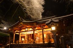 貴船神社・雪の日限定ライトアップ2