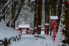 雪化粧・奥の宮