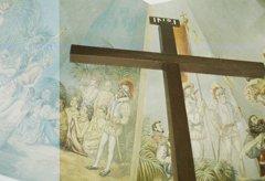 削られた十字架