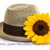 麦わら帽子とひまわり