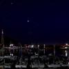 港の空と地上に輝く星 (愛媛県松山市北条)