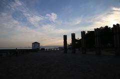 朝日の百道浜