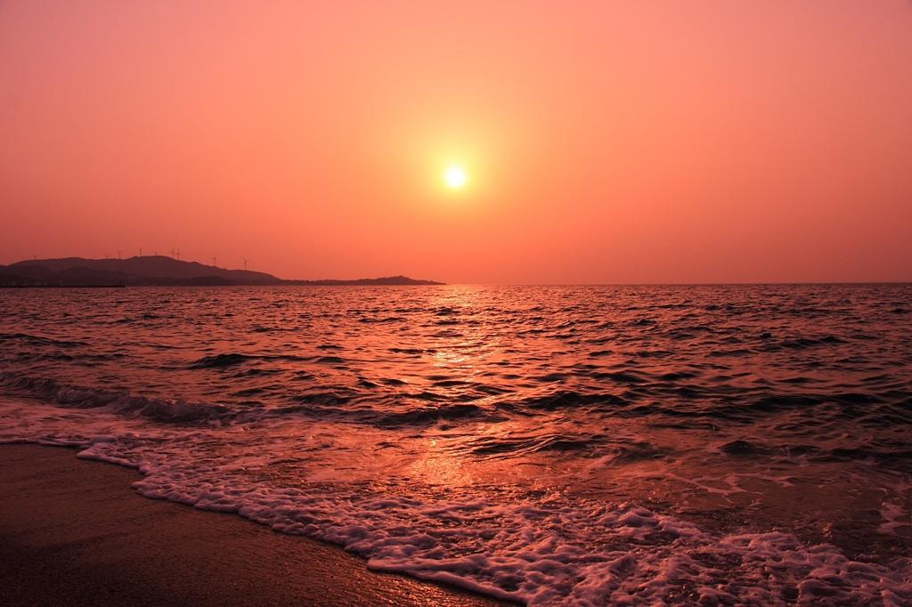 淡路島の夕暮れ